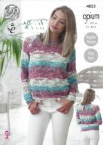 King Cole Opium Knitting Pattern - 4825 Sweaters
